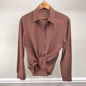 Vintage Sueded Silk Blouse